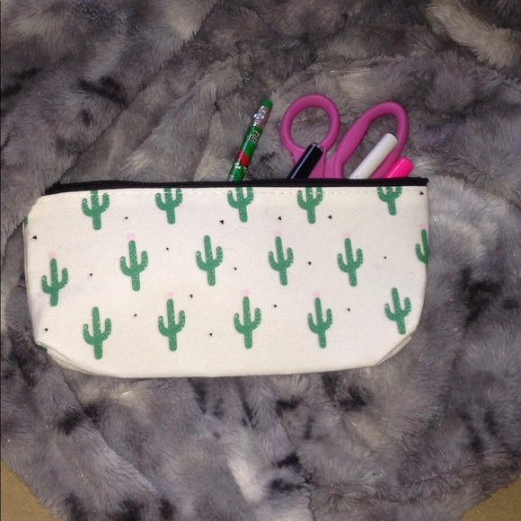 accessories cactus tumblr trendy pencil case poshmark